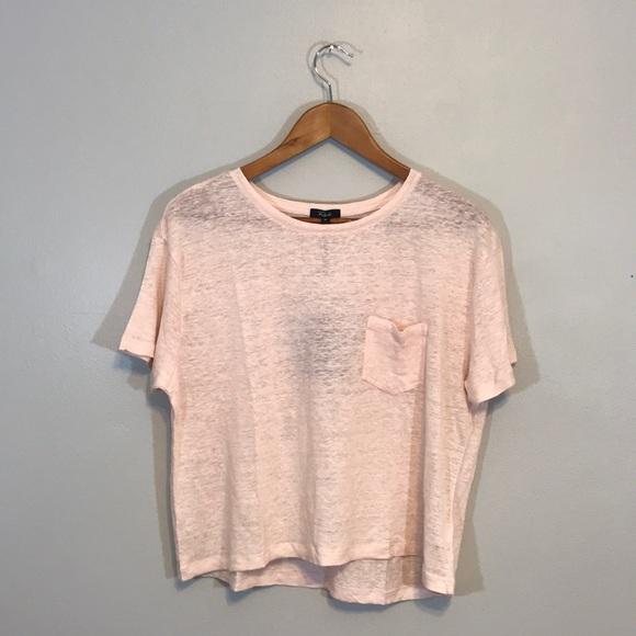 d23e5b4c Rails Tops | Nwt Light Pink Boxy Linen Blend Tshirt | Poshmark